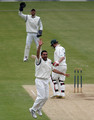Kabir Ali of Hampshire appeals unsuccessfully for the wicket of Ali Brown of Nottinghamshire during the LV County Championship match between Hampshire and Nottinghamshire at the Rosebowl on May 5, 2010 in Southampton, England.