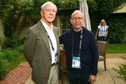 Peter Brown and Bob Balaban attend the Reception for Alan Alda at Baker House on October 4, 2018 in East Hampton, New York.