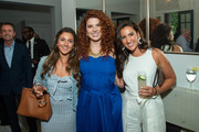 Frederico Azevedo, Debra Messing and Alex Cohen attend the Hamptons Magazine Celebration with Debra Messing on June 13, 2019 in East Hampton, New York.