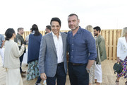 Ralph Macchio and Liev Schreiber attend the Hamptons Magazine Hosts Private Dinner To Celebrate Cover Star Liev Schreiber at Gurney's Inn on June 8, 2019 in Montauk, New York.