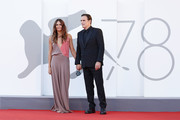 """Roberta Mastromichele and Matt Dillon attend the red carpet of the movie """"The Hand Of God"""" during the 78th Venice International Film Festival on September 02, 2021 in Venice, Italy."""