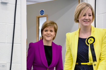 Hannah Bardell Leader of the SNP Nicola Sturgeon Gives a Speech on Child Poverty