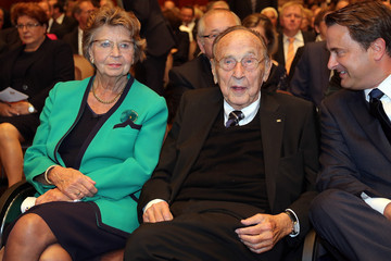 Hans-Dietrich Genscher Germany Celebrates 25 Years Since Reunification