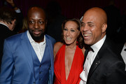 Wyclef Jean, Donna Karan and President of the Republic of Haiti, Michael J. Martelly attend the Happy Hearts Fund Gala with Chopard 10 year anniversary of the Indian Ocean tsunami tribute at Cipriani 42nd Street on June 19, 2014 in New York City.