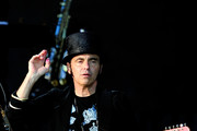Nils Lofgren performs with Bruce Springsteen at Hard Rock Calling Day 2 at Olympic Park on June 30, 2013 in London, England.