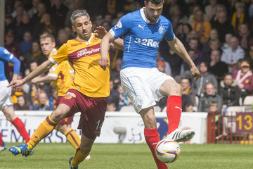 Haris Vuckic Motherwell v Rangers - Scottish Premiership: Play-Offs