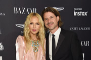 """Rachel Zoe (L) and Rodger Berman attend as Harper's BAZAAR Celebrates """"ICONS By Carine Roitfeld"""" at the Plaza Hotel on September 7, 2018 in New York City."""