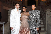 (EDITORIAL USE ONLY) (L to R) Gigi Hadid, Demi Moore and Bella Hadid attend the Harper's Bazaar Exhibition as part of the Paris Fashion Week Womenswear Fall/Winter 2020/2021 At Musee Des Arts Decoratifs on February 26, 2020 in Paris, France.