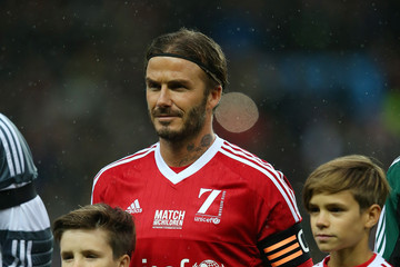 Harper Beckham David Beckham Match for Children in Aid of UNICEF