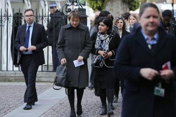Harriet Harman The Duke And Duchess Of Cambridge & Prince Harry Attend Service Of Hope