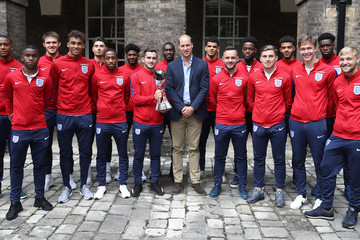 Harry Chapman The Duke of Cambridge Hosts a Reception for the Under-20 England Football Team