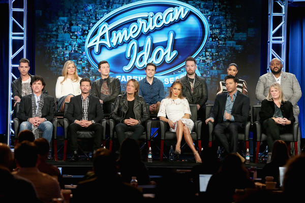 2016 Winter TCA Tour - Day 11 [scott borchetta,harry connick jr.,keith urban,jennifer lopez,ryan seacrest,nick fradiani,trish kinane,david cook,l-r,winter tca]