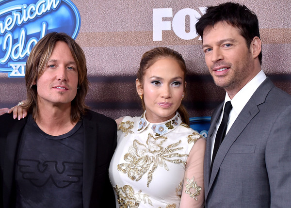 'American Idol XIV' Finalist Party [event,premiere,white-collar worker,tourism,party - arrivals,jennifer lopez,harry connick jr.,keith urban,american idol xiv,l-r,the district,fox,fox tv,finalist party]