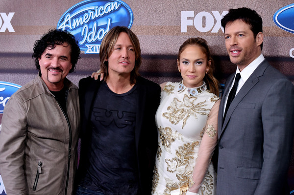 'American Idol XIV' Finalist Party [event,premiere,party - arrivals,president,keith urban,jennifer lopez,harry connick jr.,scott borchetta,american idol xiv,l-r,fox,finalist party]
