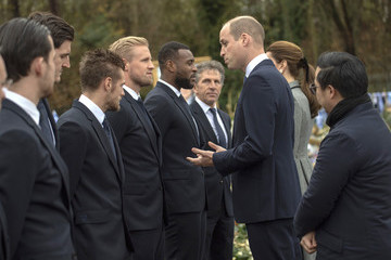 Harry Maguire The Duke And Duchess Of Cambridge Visit Leicester