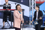 "Harry Styles Performs On NBC's ""Today"" at Rockefeller Plaza on February 26, 2020 in New York City."