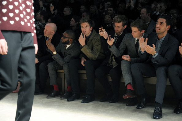 Burberry Prorsum: Front Row - Milan Fashion Week Menswear Autumn/Winter 2013 []