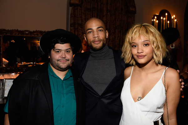 Entertainment Weekly Celebration Honoring the Screen Actors Guild Nominees Presented By Maybelline At Chateau Marmont In Los Angeles - Inside [event,fashion,formal wear,fun,suit,dress,little black dress,party,fashion design,nominees,kiersey clemons,actors,harvey guillen,kendrick sampson,chateau marmont,los angeles,maybelline,screen actors guild,entertainment weekly celebration]