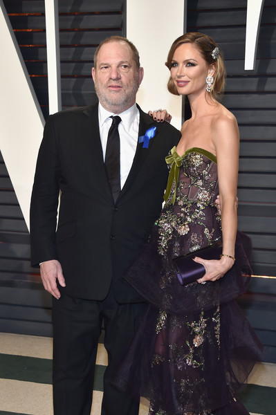 2017 Vanity Fair Oscar Party Hosted By Graydon Carter - Arrivals [oscar party,vanity fair,l,the weinstein company,suit,formal wear,tuxedo,clothing,dress,fashion,event,gown,haute couture,public event,beverly hills,california,georgina chapman,graydon carter - arrivals,co-chairman,harvey weinstein]