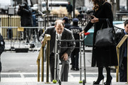 Harvey Weinstein arrives at New York City criminal court for his sex crimes trial while his lawyer Donna Rotunno holds his walker on January 7, 2020 in New York City. Weinstein, a movie producer whose alleged sexual misconduct helped spark the #MeToo movement, pleaded not-guilty on five counts of rape and sexual assault against two unnamed women and faces a possible life sentence in prison.