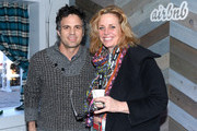 Actor Mark Ruffalo (L) and co-founder of Impact Partners Geralyn Dreyfous attend the Haus Chat: Mark Ruffalo on January 17, 2014 in Park City, Utah.