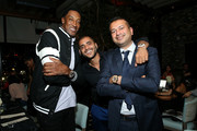 (L-R) Scottie Pippen, Sunny Gyani, and Kamal Hotchandani attend the Haute Living Celebrates Maluma with JetSmarter and Ciroc at The Highlight Room at the Dream Hollywood on May 15, 2018 in Hollywood, California.