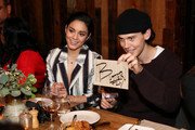 Vanessa Hudgens and Austin Butler attend the Haute Living and Jaquet Droz Honoring of Vanessa Hudgens at A.O.C. on January 17, 2019 in Los Angeles, California.
