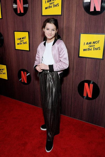 Premiere Of Netflix's I AM NOT OKAY WITH THIS In Los Angeles, CA [clothing,flooring,carpet,red carpet,premiere,hayley leblanc,ca,los angeles,west hollywood,netflix,the london west hollywood,premiere,premiere,red carpet,celebrity,fashion,stx it20 risk.5rv nr eo,socialite,formal wear,carpet,clothing,outerwear,red]