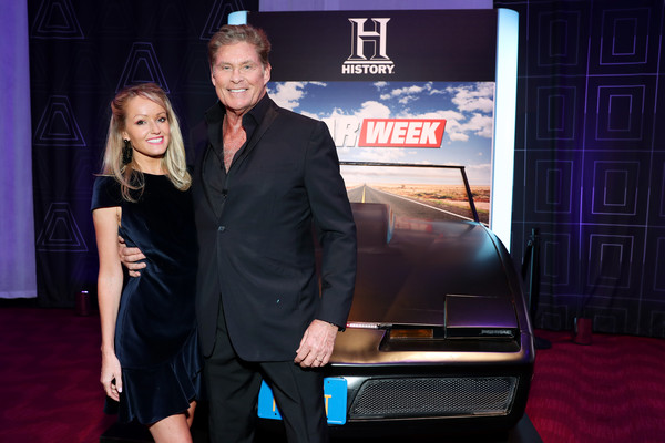 2019 A+E Networks Upfront [premiere,event,automotive design,technology,carpet,electric blue,vehicle,flooring,little black dress,car,david hasselhoff of historys project blue book,hayley roberts,r,jazz,new york city,lincoln center,a e networks]