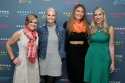 HGTV Magazine Editor in Chief Sara Peterson, actress Monica Potter, TV Host Genevieve Gorder and Editor in Chief of Country Living Rachel Hardage Barrett attend Hearst Magazines MAGFRONT 2015 at Hearst Tower on October 27, 2015 in New York City.