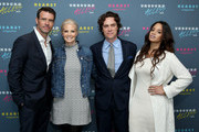 Actor Scott Foley, Actress Monica Potter, Editor in Chief of Town and Country Jay Fielden and Actress Dascha Polanco attend Hearst Magazines MAGFRONT 2015 at Hearst Tower on October 27, 2015 in New York City.