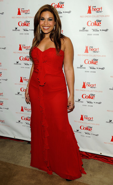 Singer Jordin Sparks backstage at the Heart Truth Fall 2010 Fashion Show during Mercedes-Benz Fashion Week at The Tent at Bryant Park on February 11, 2010 in New York City.