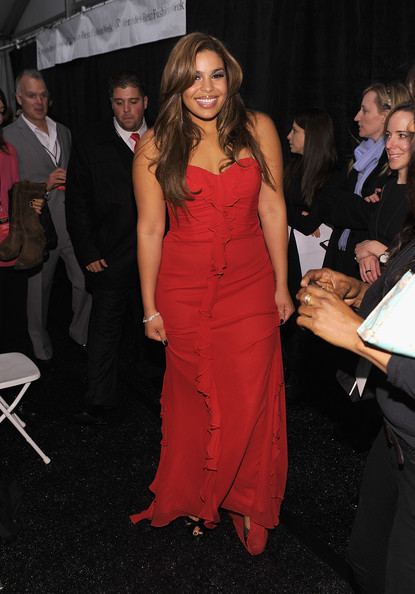 Jordin Sparks attends backstage during The Heart Truth Red Dress Collection Fall 2010 during Mercedes-Benz Fashion Week at Bryant Park on February 11, 2010 in New York City.
