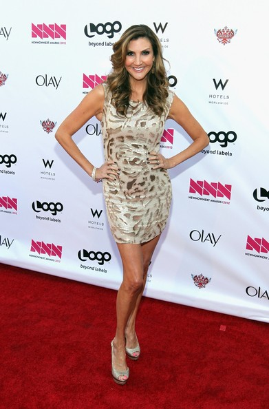 "Logo's ""NewNowNext Awards"" 2012 - Red Carpet [red carpet,clothing,dress,red carpet,cocktail dress,fashion model,carpet,premiere,hairstyle,shoulder,footwear,heather mcdonald,newnownext awards,california,hollywood,avalon,logo]"