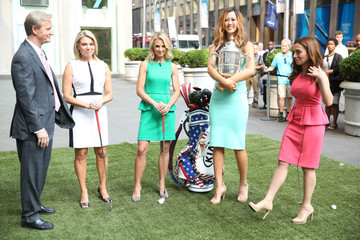 Heather Nauert Michelle Wie Visits 'FOX And Friends'