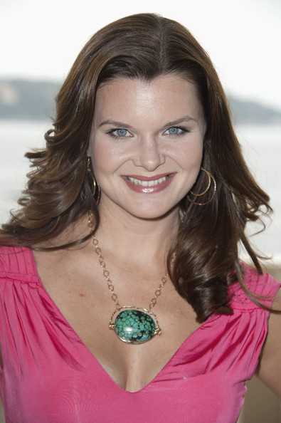 Heather Tom Heather Tom poses at Monte Carlo Bay Hotel before they ...