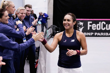 Heather Watson Great Britain v Portugal - Davis Cup by BNP Paribas Europe/Africa Group B