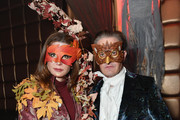 Desiree Gruber (L) and Kyle MacLachlan attend Heidi Klum's 19th Annual Halloween Party presented by Party City and SVEDKA Vodka at LAVO New York on October 31, 2018 in New York City.
