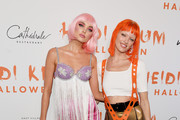Elsa Hosk (L) and Martha Hunt attend Heidi Klum's 20th Annual Halloween Party presented by Amazon Prime Video and SVEDKA Vodka at Cathédrale New York on October 31, 2019 in New York City.