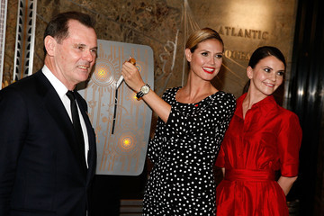 Bernd Beetz Heidi Klum Empire State Building Lighting Ceremony Honoring Bone Marrow Donors