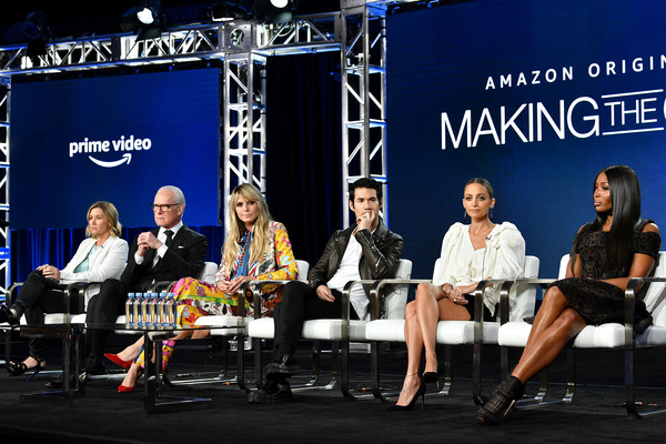 2020 Winter TCA Tour - Day 8 [making the cut,event,news conference,convention,table,spokesperson,competition,advertising,performance,media,world,tim gunn,sara rea,heidi klum,naomi campell,joseph altuzarra,nicole richie,pasadena,amazon prime,winter tca,heidi klum,tim gunn,nicole richie,sara rea,making the cut,stock photography,photograph,television,photography,image]