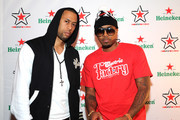 (L-R) Affion Crockett and Nas attend Heineken Red Star Access Philadelphia featuring Nas, Wale and Q-Tip at The Electric Factory on October 13, 2012 in Philadelphia, Pennsylvania.