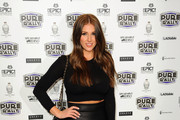 Lucy Pinder attends the launch of the new 2014 Super Car Rally at Millennium Mayfair Hotel on January 23, 2014 in London, England.