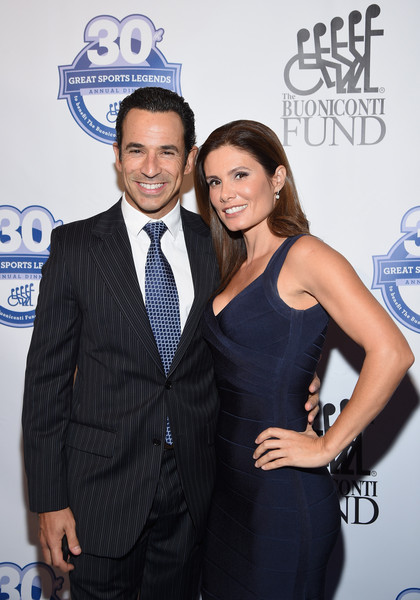 30th Annual Great Sports Legends Dinner to Benefit The Buoniconti Fund to Cure Paralysis - Arrivals [great sports legends dinner to benefit the buoniconti fund to cure paralysis,event,premiere,suit,little black dress,dress,award,fashion accessory,formal wear,carpet,smile,arrivals,helio castroneves,adriana henao,the waldorf astoria,new york city,the buoniconti fund to cure paralysis,annual great sports legends dinner]