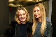 Elle fashion director Anne Slowey and designer Sylvie Millstein pose at Hellessy Fall/Winter 2016 at Affirmation Arts on February 11, 2016 in New York City.