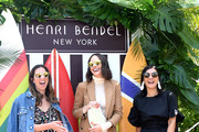 Henri Bendel Head of Marketing/PR Corie McCabe, Louise Roe and Henri Bendel creative director Pina Ferlisiattend the Henri Bendel Surf Sport 2018 Collection Launch at The Bungalow on April 27, 2018 in Santa Monica, California.