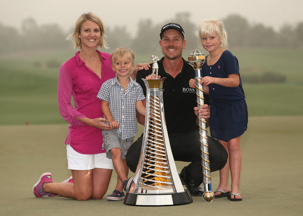 Photo of Henrik Stenson & his  Son  Karl Stenson