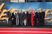 (L-R) Beau Flynn, Aksel Hennie, Reece Ritchie, Ian McShane, Ingrid Bolso Berdal, Dwayne Johnson, Irina Shayk, Rufus Sewell, Brett Ratner and Sven Sturm attend the Europe premiere of Paramount Pictures 'Hercules' at CineStar on August 21, 2014 in Berlin, Germany.