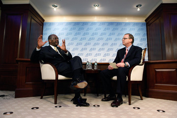 Kevin Hassett Herman Cain Discusses His 9-9-9 Plan At American Enterprise Institute In DC