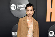 """Zoe Kravitz attends the """"High Fidelity"""" New York Premiere at The Metrograph on February 13, 2020 in New York City."""